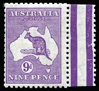 Lot 604:9d Bright Purple BW #29D, marginal example, fine mint, Cat $200.