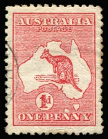 Lot 27:1d Red Die II variety 'Extra island' (two Tasmanias) [L25] BW #3(E)d, minor perf tones, excellent centring, very fine used, Cat $400. Drury Certificate (2018).