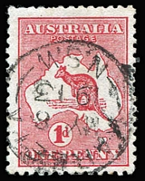 Lot 507:1d Red Die I Watermark sideways - crown pointing to the right BW #2aa, few nibbed perfs, well centred with cds cancel, Cat $450. Drury Certificate (2018).