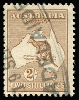 Lot 543:2/- Light Brown BW #36, tidy Adelaide Parcels cancel, Cat $350.
