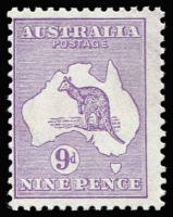Lot 559:9d Pale Violet BW #24B, MUH, Cat $2,500.