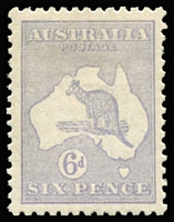 Lot 128:6d Pale Greyish-Violet Die II BW #19G, single nibbed perf, very well centred, fine mint, Cat $575. Drury Certificate (2017).