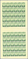 Lot 803 [2 of 2]:1946 Peace complete set of 3 BW #236-38, in complete sheets of 60 x2 (120 sets), MUH, Cat $720++. (6 sheets)