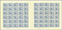 Lot 803 [1 of 2]:1946 Peace complete set of 3 BW #236-38, in complete sheets of 60 x2 (120 sets), MUH, Cat $720++. (6 sheets)