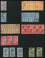Lot 11 [3 of 4]:Bermuda 1860s-1980s mostly used array on Hagners in ringbinder with QV issues to 6d x2, KGVI Keyplates 2/- x9, 2/6d x4, 5/- x2, 10/- & £1, QEII 1953-62 to 10/- x3 & £1 x2, duplicated commoner values, also some mint issues at the back. Condition mostly fine. (100s)