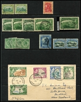 Lot 48 [3 of 3]:Jamaica 1870s-1980 used array, with QV 1870-83 Crown CC 6d x2 & 1/-, KGV to 1/- plus range of War Stamps, 1919-21 MCA 1½d Wmk Sideways inverted & reversed (Cat £80), KGVI values to 5/- x3 & 10/- plus 2d to 6d values on plain 1938 FDC, etc. Condition mostly fine.