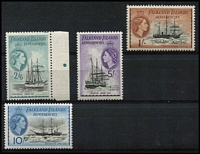Lot 2161 [2 of 3]:1954 QEII Ships ½d to £1 set SG #G26-40, some marginal examples, fresh MUH, Cat £225. (15)