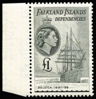 Lot 2161 [1 of 3]:1954 QEII Ships ½d to £1 set SG #G26-40, some marginal examples, fresh MUH, Cat £225. (15)