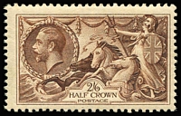 Lot 1420 [3 of 3]:1934 Re-Engraved Seahorses 2/6d to 10/- set SG #450-52, fine MLH. Cat £575. (3)