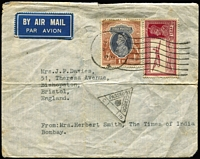 Lot 434 [2 of 5]:1890s-1950s Postal History including 1902 uprated 2a Registration Envelope used from Rangoon to London, 1924-25 Kodak ½a meter covers x2, 1926 to Italy re-directed to Vienna, 1940 Agra Civil Lines registered to England, 1954 cover to Bombay with British 2½d Wilding & Indian stamps; also postal stationery with QV ½a Envelopes unused, KGV ½a Postal Cards, Patiala State ½a Envelopes used, etc. (33)