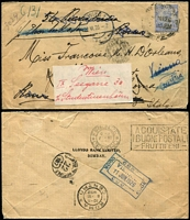 Lot 434 [1 of 5]:1890s-1950s Postal History including 1902 uprated 2a Registration Envelope used from Rangoon to London, 1924-25 Kodak ½a meter covers x2, 1926 to Italy re-directed to Vienna, 1940 Agra Civil Lines registered to England, 1954 cover to Bombay with British 2½d Wilding & Indian stamps; also postal stationery with QV ½a Envelopes unused, KGV ½a Postal Cards, Patiala State ½a Envelopes used, etc. (33)