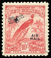 Lot 1418 [1 of 4]:1925-39 Used Array with Huts to 6d x4 & 1/-, Huts Airs 9d x2 & 1/-, optd 'OS' 6d & 9d, Dated Birds including Airs 2/- (on piece) & 10/- VFU and optd 'OS' 1/- & 2/-, Undated Birds with Airs 2½d x2, 9d x2 & 5/-, optd 'OS' to 9d (ex 1½d) plus 2/-, Bulolo Airs to 6d; some postmark interest; duplication throughout, condition variable but mostly fine. (180+)