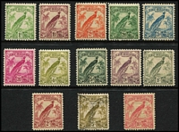Lot 1062 [2 of 2]:1932-34 Undated Birds ½d to £1 set SG #177-89, 5/- & £1 values used, other values fine mint. Cat £210. (15)