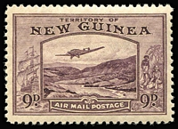 Lot 1067 [2 of 7]:1939 Bulolo Air ½d to £1 set SG #212-25, fine mint (10/- very lightly used). Cat £900. (14)