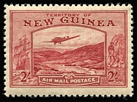 Lot 1067 [3 of 7]:1939 Bulolo Air ½d to £1 set SG #212-25, fine mint (10/- very lightly used). Cat £900. (14)