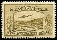 Lot 1067 [1 of 7]:1939 Bulolo Air ½d to £1 set SG #212-25, fine mint (10/- very lightly used). Cat £900. (14)