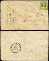 Lot 1028 [1 of 4]:1862-71 Cover Group comprising 1863 Ipswich to England with 2d Chalons x3 (aged), 1864 Maryborough to Sydney with 6d yellow-green Chalon with Rays '96' cancel, fine Ship-Letter/Sydney backstamp, 1869 Warwick to Toowoomba bank cover with 2d Chalon tied by Rays '81' cancel, 1871 Cambooya 1d town-letter rate plus another undated Cambooya town-letter (major faults). (5)