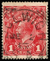 Lot 1248:Dulwich (2): (B2) large-part Type SC2 'JE2/15(?)' squared-circle datestamp on KGV 1d red. Rated 4R.  PO c.-/11/1911; closed 30/6/1982.