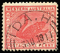 Lot 644 [1 of 4]:Datestamp Array in Stockbook and on Hagners with 'A' to 'Y' selection with many fine strike of common and scarcer types including Brown Hill, Eucla, Goldfields TPO, Ida H, Karridale on 5d, part Telegraph Office/Mt Malcolm oval rubber in blue, Savings Bank/Mt Morgan, T.P.O. E.G.F. on 4d pair; also numeral cancels between '1' & '35' + '80' letter codes, few Paquebots, instructional handstamps, rubber Registration Branch types, etc; sure to reward closer inspection. (few 100s)