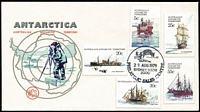 Lot 1502:1979 Ships values x5 tied to Wesley FDC by Sydney Philatelic Sales Centre FD datestamp. Rare mainland serviced FDC.