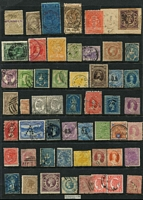 Lot 368 [2 of 3]:Assortment on three Hagners with imperfs, revenues, useful mint oddments, etc. Well worth closer inspection. (150+)