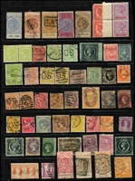 Lot 368 [1 of 3]:Assortment on three Hagners with imperfs, revenues, useful mint oddments, etc. Well worth closer inspection. (150+)