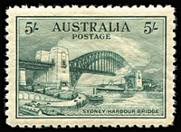 Lot 766 [1 of 5]:1914-1963 Mint Collection (no Roos or KGV Heads) with 6d Engraved Kooka (MUH), Kooka M/S (few mild tonespots), KGV commemorative complete including 5/- Bridge (excellent centring), KGVI 3d blue 'White Wattles', Thick & Thin Paper Robes & Arms set MUH, QEII Navigators complete MUH with 10/- & £1 both papers, also KGVI & QEII coil pairs or strips, QEII ordinary & helecon papers, etc; some mild toning mostly on KGV issues, many stamps MUH. (100s)