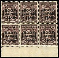 Lot 309 [1 of 2]:Selection with mint ½d (x2) & 1d (x2) to 2/- plus unused 3d marginal block of 6 and used 1d to 1/-. Cat £160+