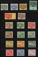 Lot 10:Bermuda 1920-21 KGV Tercentenary set SG #59-76, 