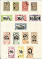Lot 82 [1 of 5]:Romania 1906-31 used in two albums includes an attractive range of earlies, Postage Dues, 1906 Welfare Funds (SG 481-92), 1906 Jubilee Exhibition set, 1934 Jamboree Fund set & 1941 Endowment Fund with overprints plus later issues largely complete to 1950, STC £2,000+; plus Russia mint and used, sighted 1930 Flight to Mexico 40k, 1931 Airship Construction Fund set & 1933 Ethnographic set. Clean lot. (100s)