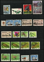 Lot 72 [3 of 3]:Singapore 1940s-70s Array mostly used including 1969 150th Anniv 15c to $1, 1970 Osaka set, few mint oddments also 1949 UPU (some toning), 1963 $2 Sunbird MUH; mixed condition. (110+)