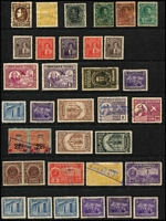 Lot 99 [2 of 4]:Venezuela 1900s-1950s array on Hagners mint or used with Airs, Officials, multiples including 1940s high values to 10b yellow Air, duplication, condition variable. (200)