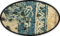 Lot 933 [3 of 3]:1854-55 ½a Pale Blue Die I SG #3 variety Chignon retouch [Pos 6,30,54 & 78], complete margins (wide at sides) tied by Diamond of Dots cancel (Cooper #1) to cover.