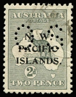 Lot 1284:1919-23 Kangaroos 3rd Wmk Perf 'OS': 2d grey SG #O6, few nibbed perfs, well centred, fine used, Cat £80.