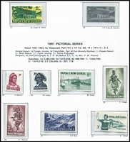 Lot 1638 [2 of 3]:1952-88 Mostly Mint Collection in Seven Seas hingeless album with 1952 Pictorials to 10/-, 1963 10/- Rabaul, approx 60% complete thereafter with many 1980s issues MUH; also some MUH & used issues on Hagners & some M/Ss; STC $350+.