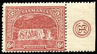 Lot 1265:1905-11 Pictorials Typo Wmk Crown/A 6d carmine-lake P12½ SG #254 with 'JBC' monogram SG #254, fine MLH.