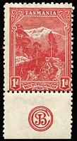 Lot 1267:1912 Pictorials Typo Wmk Crown/A Thin Paper 1d carmine-vermilion P11 SG #261a with 'JBC' monogram, fine mint. Very scarce.