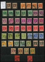 Lot 326 [3 of 4]:1857-1960s Collection with QV 1857 imperf 1d & 2d, imperf ½d reddish-lilac (shave top margin, Cat £650), perforated 1861-66 2d ochre & 1/- violet, range of Sidefaces including overprints, 1899 2r25c used, KEVII to 75c (mint), KGV to 10r x2 used plus 100r fiscally used (repaired puncture hole), 1935-36 KGV Pictorials to 1r x2 mint, KGVI to 2r mint, etc; condition variable. (few 100s)