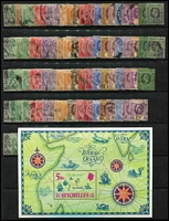 Lot 25 [3 of 5]:British Commonwealth mint & used with strength in 1930s-50s era, plenty of pickings with useful selections from British Africa including Southern Rhodesia KGVI ½d to 5/- mint, Ceylon, Straits Settlements with used 1935 Jubilee sets x5, etc; also some omnibus issues includuing 1935 Coronation sets mint. (100s)