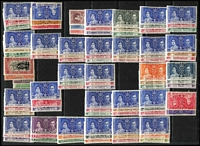 Lot 25 [1 of 5]:British Commonwealth mint & used with strength in 1930s-50s era, plenty of pickings with useful selections from British Africa including Southern Rhodesia KGVI ½d to 5/- mint, Ceylon, Straits Settlements with used 1935 Jubilee sets x5, etc; also some omnibus issues includuing 1935 Coronation sets mint. (100s)