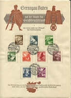 Lot 479 [4 of 5]:1936-40s Selection with sets on presentation sheets with commemorative datestamps including 1936 Olympics, 1937, 1938 & 1940 Winter Relief, 1939 Automobile Exhib; also 1937 Hitler's Birthday M/S on registered cover, and seldom-offered 1938-41 illustrated Telegram Sheets (6, used), etc. Interesting lot, mostly fine. (16 items)