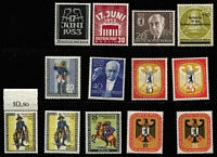 Lot 348 [3 of 4]:1950s-70s West Germany & Berlin Collection predominantly mint, fragmentary 1950s issues with some better sets and odd values, later issues more complete with some MUH multiples & M/Ss. (100s)