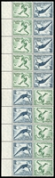 Lot 1419 [2 of 3]:1936 Olympic Games 12pf+3pf & 6pf+4pf Stamp Booklet Blocks Mi #MHB57-58 x2 of each, one of each type with an extra vertical column, fresh MUH, Cat €4,200+. (4 items)