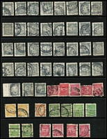 Lot 477 [2 of 6]:1891-1976 Life Insurance Accumulation with useful pickings including 1d SG #L2 unused, 3d #L4 used x2, 1d P10x11 L11a unused, 6d pink mint & unused, other issues heavily duplicated including 1½d black L26 x150 plus Long 'T' in 'GOVERMENT' x2, 2d yellow L34 x40, 2d yellow L39 x10, 1947-65 Pictorials mint sets x2, etc, condition of early issues a bit mixed, improves thereafter, Cat £2,500+. (few 100s)