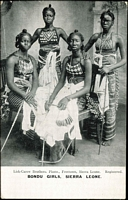 Lot 225 [1 of 3]:Sierra Leone: Lisk-Carew Brothers unused PPCs in black & white x3, showing 'Bondu Girls', 'Washerwoman' or 'Dyeing Native Threads'. Fine and attractive. (3)