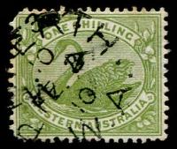 Lot 1174:1898-1907 Wmk W Crown A Watermark inverted SG #116w, rounded corner, some minor perf tones, Cat £200.