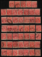 Lot 190 [6 of 13]:1½d Red Accumulation on Hagners all watermarks represented, unchecked for varieties and postmarks, some Official & private perfins sighted, condition variable. (600+)