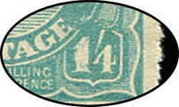 Lot 606 [2 of 2]:1/4d Greenish Blue Ash imprint strip of 4 with Thick 1 at right, gumside tonespot and hinge remainders, Cat $3,250 (as an imprint block of 4) + $600 for the variety.