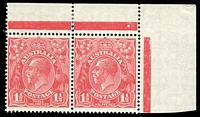 Lot 599 [1 of 2]:1½d Red Die II Plate dot pairs comprising Pl 1a (Cat $1,000 as a block of 4), Pl 1, Pl 2 & Pl 4, also a Pl 3 block of 4; fine mint with many units MUH. (5 items)