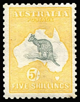 Lot 24 [1 of 2]:½d to 5/- set (ex 3d Die II), few values hinge remnants, 2d MUH, key 2/- & 5/- (trivial corner spot) MVLH, generally fine/very fine mint, Cat $3,500+. (12)